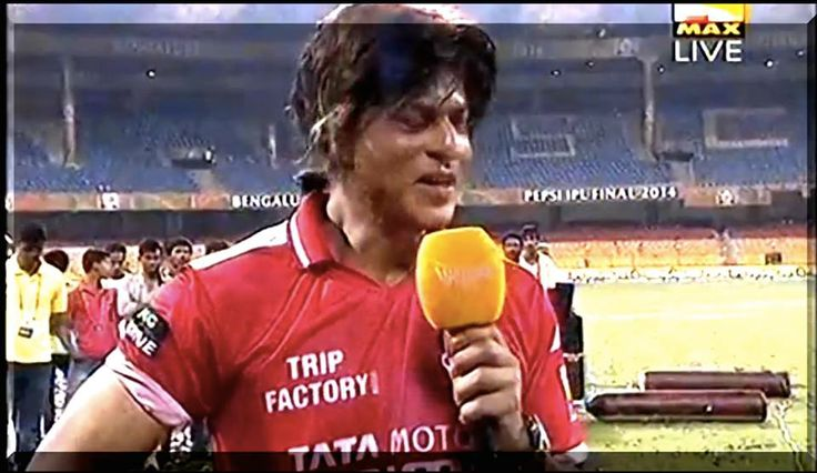 Icing on the cake: King Khan wearing TripFactory jersey