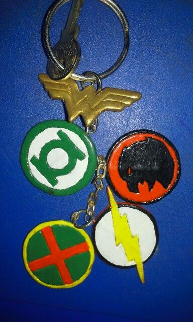 Llaveros de heroes DC - Wonderwoman, Green Lanter, Flash, Martian Manhunter, Hawkgirl #DCcomics