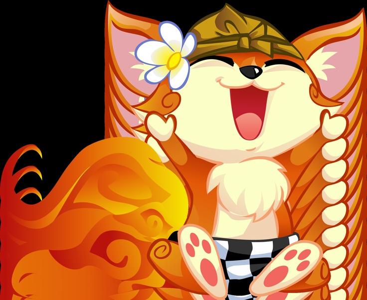 "KUMI ""Penari Kecak Bali"" - Komunitas Mozilla Indonesia mascot"