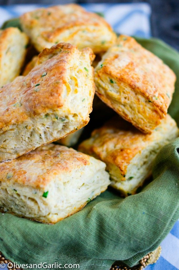 Goat Cheese and Chive Biscuits | Breads | Pinterest