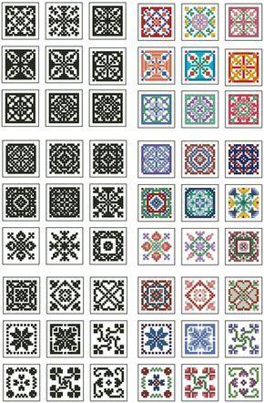 Mini Biscornu Cross Stitch Collection 2