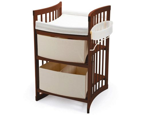 Stokke changing table for small spaces. Converts to a child's desk for use in later years.
