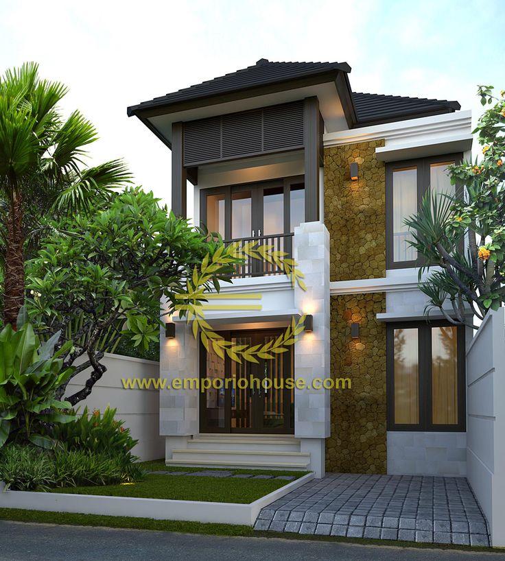 Desain Rumah 2 Lantai 3 kamar Lebar Tanah 7 meter dengan ukuran Tanah 1 are/100m2