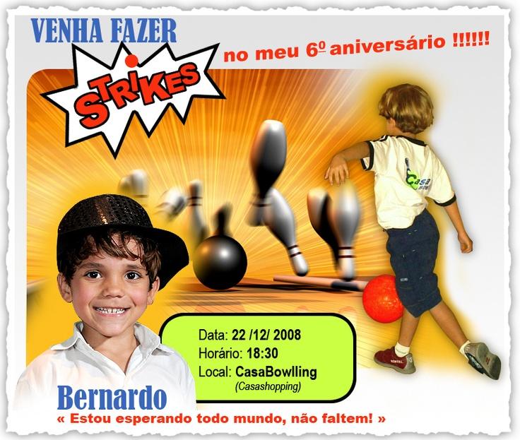 Invitation for Bernardo's 6th birthday.