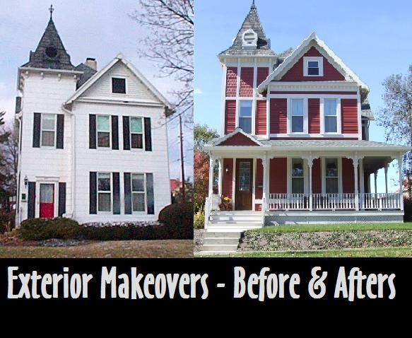 115 best images about exterior before after on for Before and after exterior home makeovers