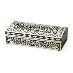 Black Bone inlay Floral Pattern Box