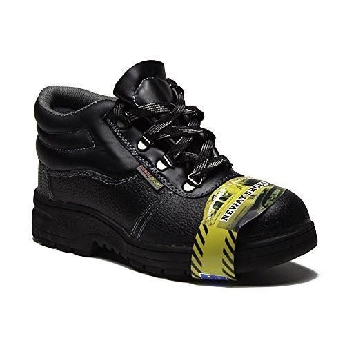 New Men's 6136 Steel Toe Genuine Leather Safety Work Boots