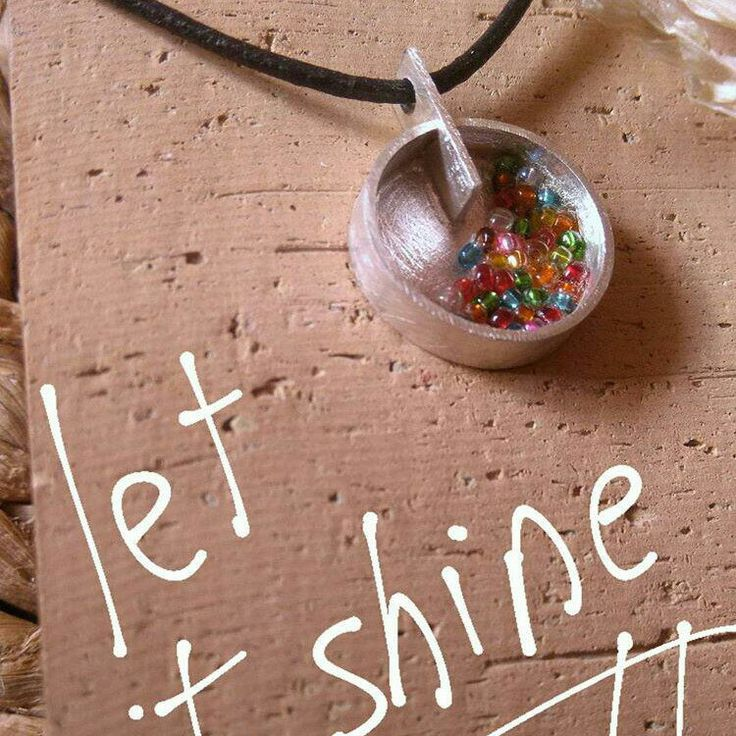 Let it shine! New design available on shop. Colorful glass beads ans sterling silver. High quality leather cord included!