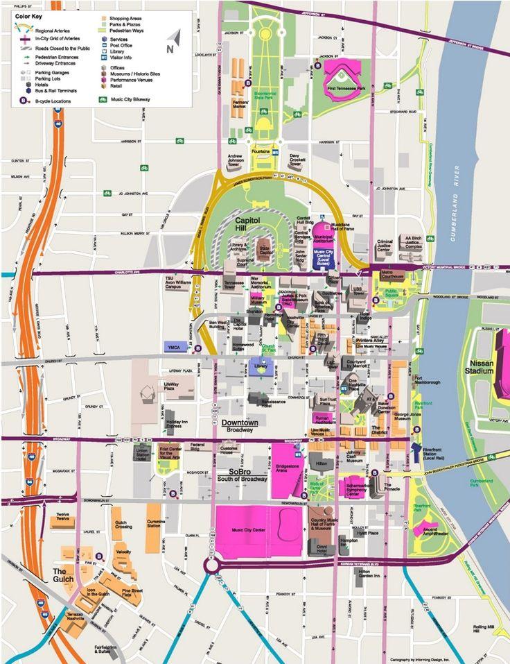 Nashville tourist attractions map