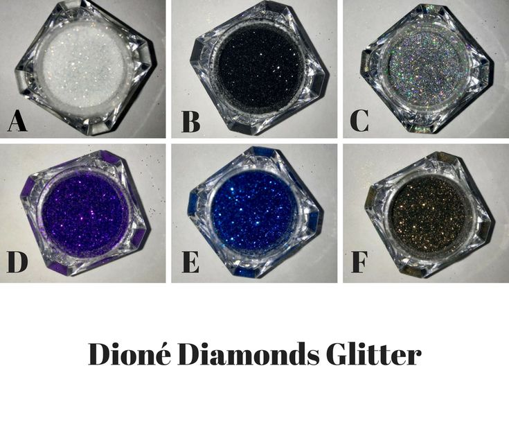 You're never too old for a little glitter in your life....or in your makeup bag. Dioné Diamonds Glitters are fine cosmetic grade glitters approved for eyes, lips and face. Let your imagination run wild. Use in conjunction with Glam It All for a stay all day sparkle.