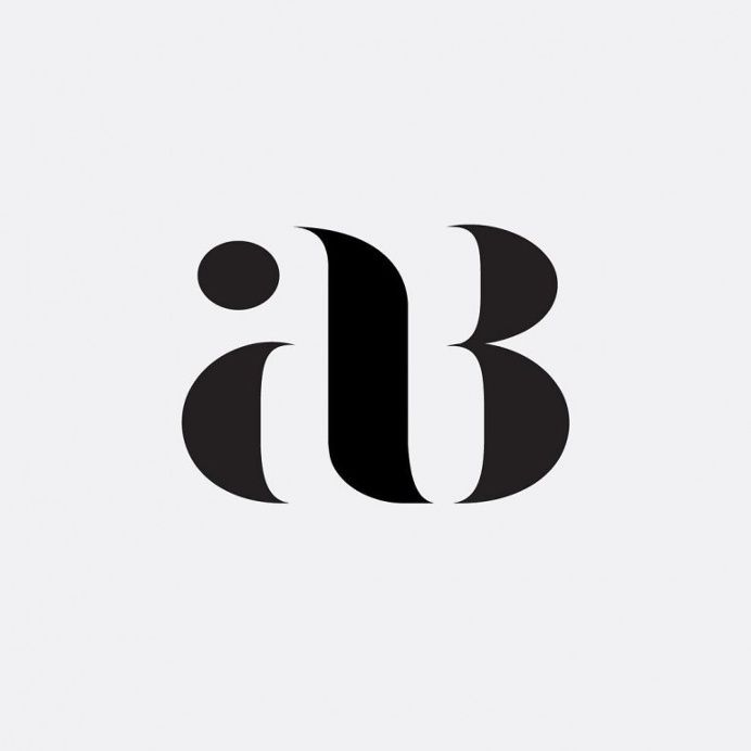 """AB"" Monogram Project by Hope Meng in Logo design"