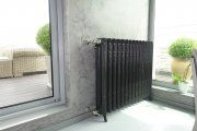 Reference picture form our realization. ArtDeco cast iron radiator in standard RAL7022