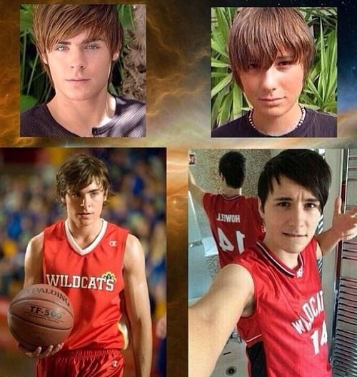 Dan Howell as Troy Bolton :) OMG can they PLEASE remake make it and then Phil could be Chad because they are best friends
