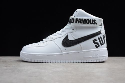 reputable site 02f45 58791 promo code for supreme x nike air force 1 high white black for sale 03cb5  68eae