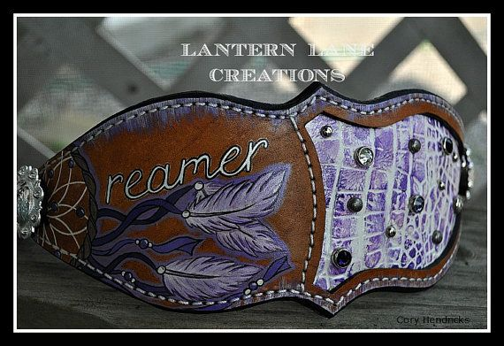 Bronc noseband Dream catcher by LanternLaneCreations on Etsy, $70.00