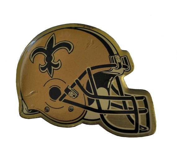 """New Orleans SAINTS Helmet NFL vintage enamel pin button football NOLA by VintageTrafficUSA  14.00 USD  A vintage Saints pin! Decent condition with light scuffs. Measures: approx 1"""" 20 years old hard to find vintage high-quality cloisonne lapel/pin. Beautiful die struck metal pin with colored glass enamel filling. Add inspiration to your handbag tie jacket backpack hat or wall. Have some individuality = some flair! -------------------------------------------- SECOND ITEM SHIPS FREE IN USA…"""