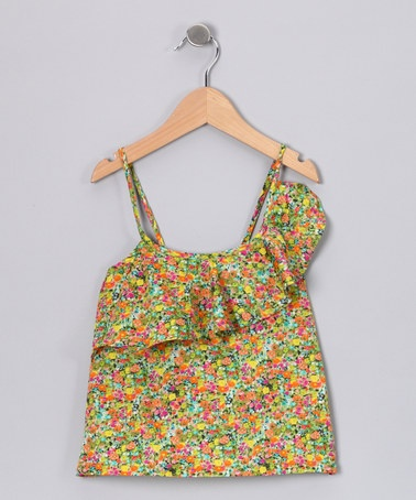 Take a look at this Green Floral Asymmetrical Top - Girls by Aioty on #zulily today!: Green Floral, Asymmetrical Top, Floral Asymmetrical, Zulily Today
