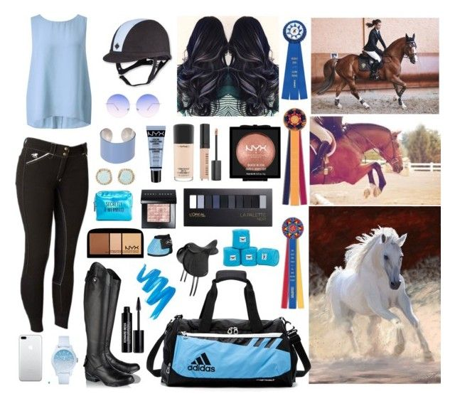 """Caitlin's Summer Riding Outfit"" by crazymadhorselover ❤ liked on Polyvore featuring Ariat, Somerset by Alice Temperley, Skinnydip, Maison Margiela, Lacoste, Louise et Cie, Pinch Provisions, NYX, MAC Cosmetics and Bobbi Brown Cosmetics"