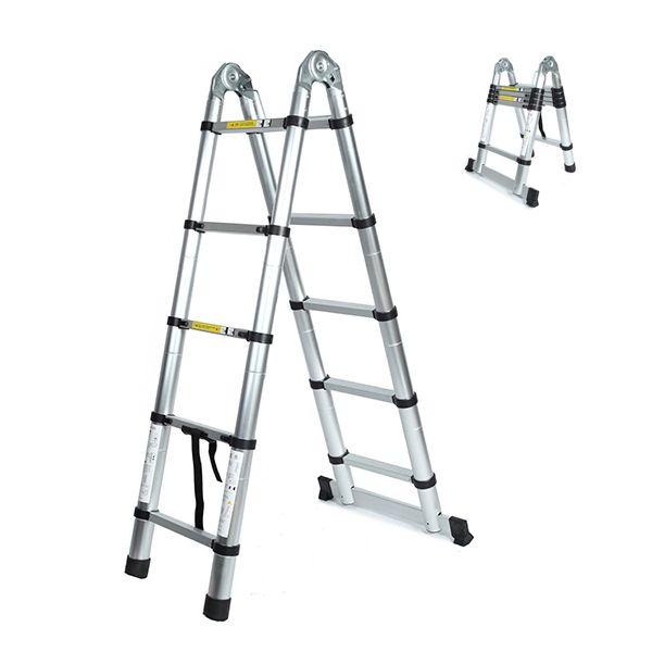 3.escalera de espiga equilátero bastidor telescópico plegable 2m multiusos aleación de aluminio