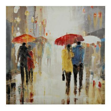 Couple in the City Canvas Art Print