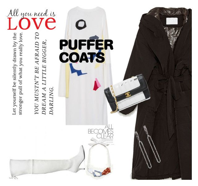 """""""White and Black"""" by peeweevaaz ❤ liked on Polyvore featuring Brewster Home Fashions, MANGO, outfit, officewear, polyvoreeditorial, polyvorefashion and puffercoats"""
