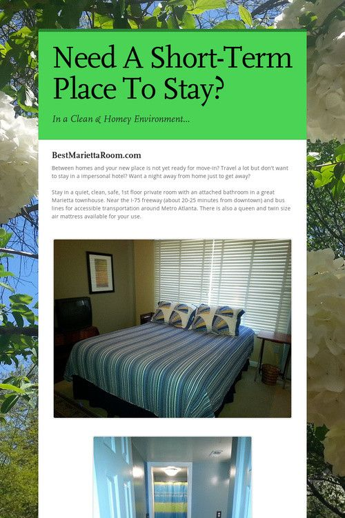 Help spread the word about Need A Short-Term Place To Stay?. Please share! :)