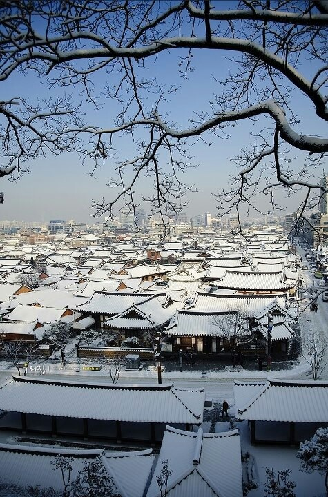 #Hanok village in #Jeonju, Korea