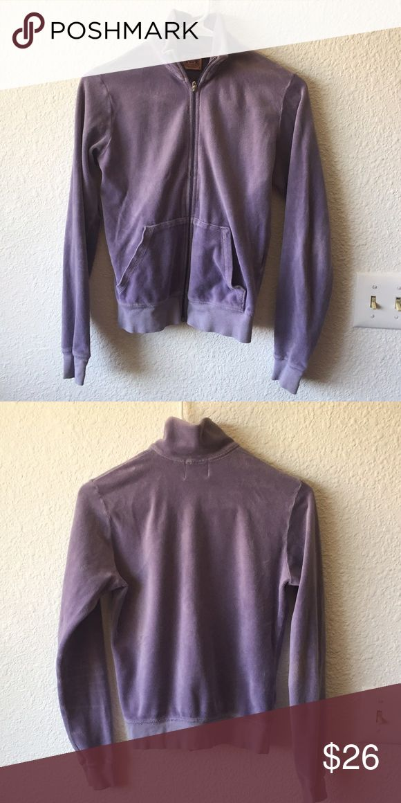 Juicy purple zip up hoodie Good condition Juicy Couture Tops Sweatshirts & Hoodies