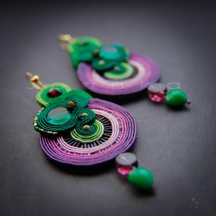 Joanka - Hand embroidered jewelry  http://joanka-k.blogspot.com/