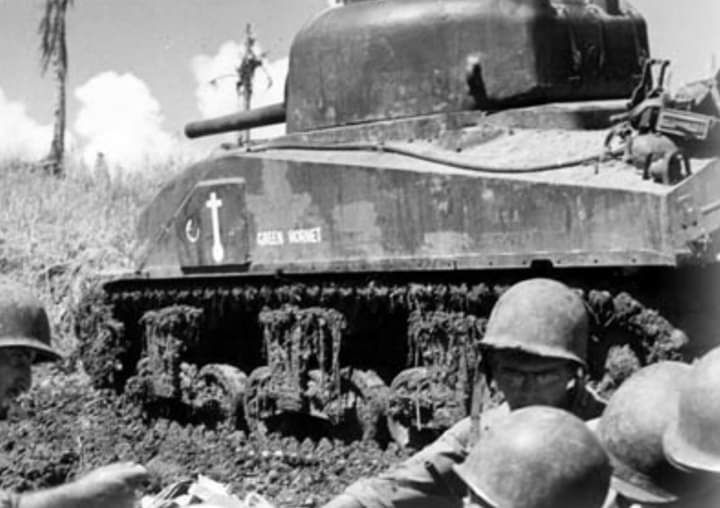 M4 Composite Hull Sherman Of The 44th Tank Battalion In The