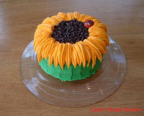 ... Creamy white frosting, chocolate chips, and a royal icing lady bug