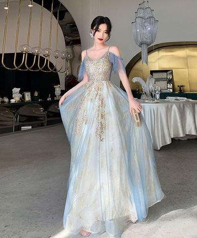 70/'s Blue Floral Bell Sleeve Dress Gown Hippie Boho Medieval Renaissance SCA Festival Prom Formal Angel
