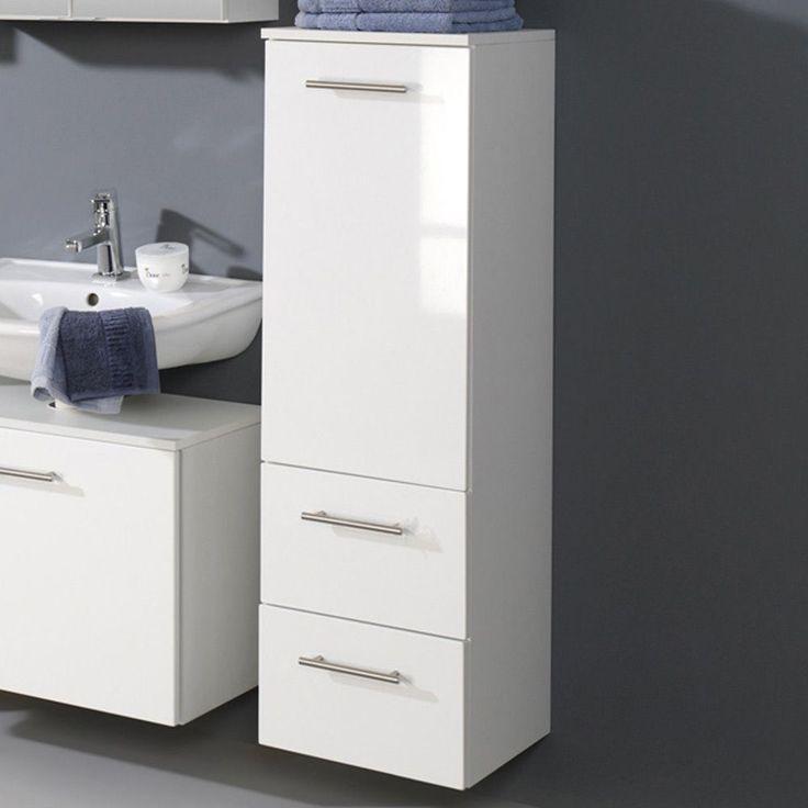 Great Badezimmer Midischrank in Wei Hochglanz Jetzt bestellen unter https moebel ladendirekt de bad badmoebel badezimmerschraenke uid udeeb bed b c