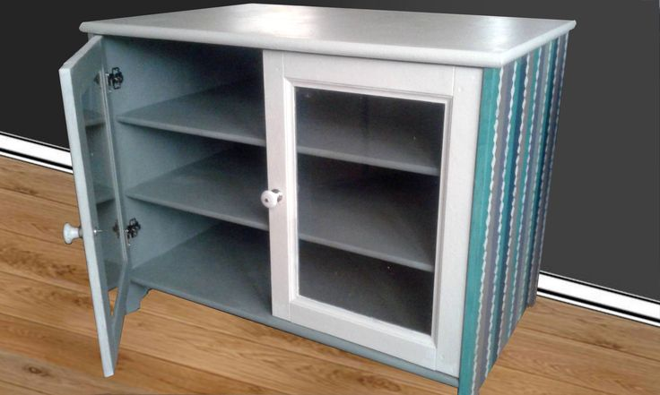 This used to be a dull pine wood Ikea cupboard