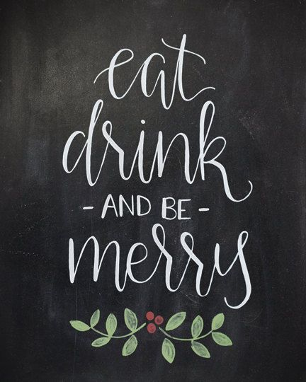 Bring some holiday cheer to your home with an 5x7 or 8x10 chalkboard art print. This hand-lettered design is printed on beautiful thick matte