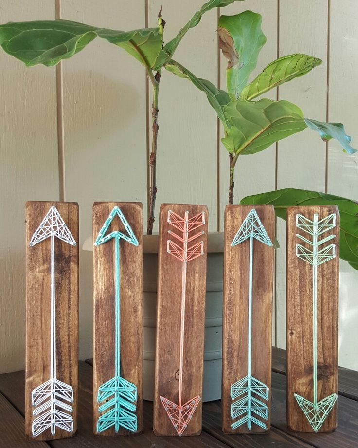 String Art Arrows Mint, Salmon, Aqua, Turquoise
