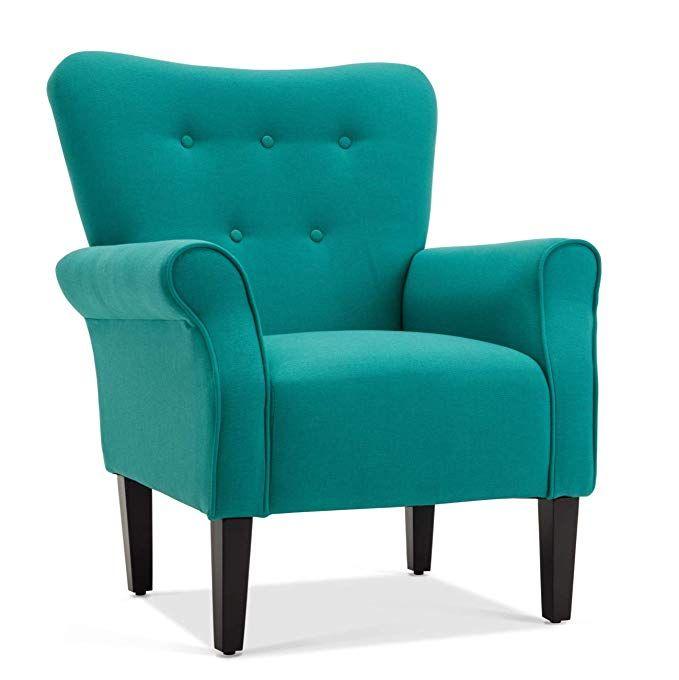 Amazon Com Belleze Living Room Armchair Linen Armrest Modern