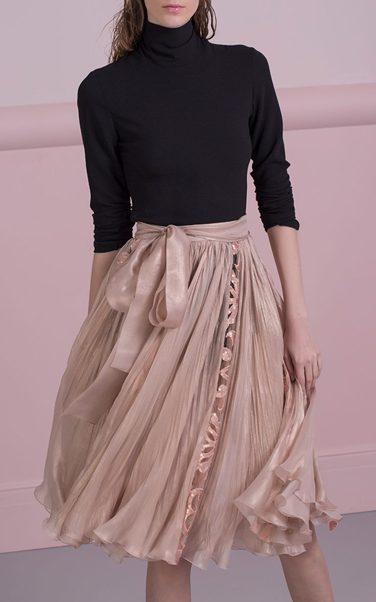 Abra Silk Skirt by MARIA LUCIA HOHAN for Preorder on Moda Operandi