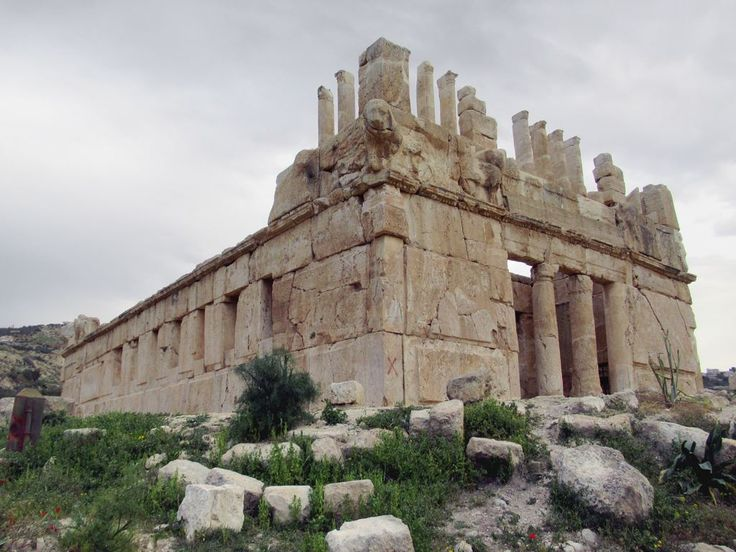 Huge cut stone blocks were used in the construction of 2nd century BC Qasr al-Abd (Palace of the Slave) at Iraq El-Amir, east of Amman, Jordan.