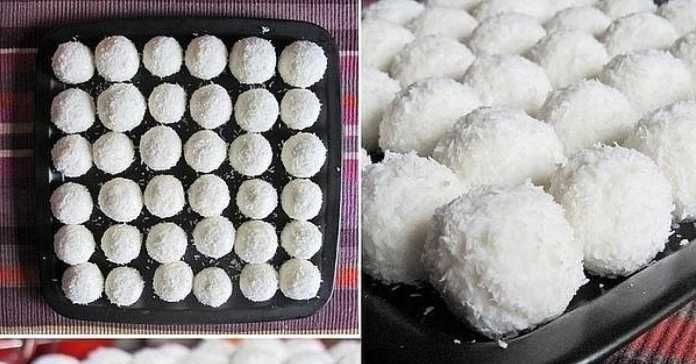 Recept  na kokosové kuličky
