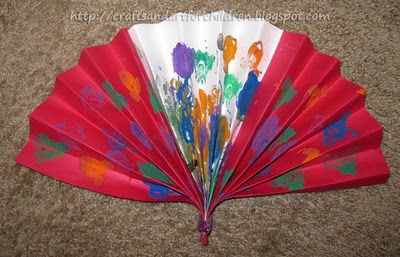 Chinese Fan Craft for Chinese New Year