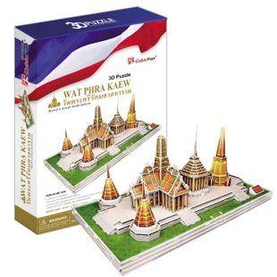 Новый CubicFun 3D модель головоломка бумаги подарок Детям DIY игрушка MC124H таиланд ВАТ ПХРА кео Храм Нефритового Будды инкрустированные золотой фольги