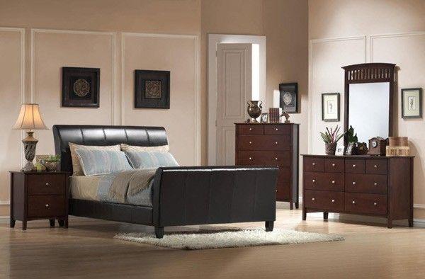 Myco Furniture - Jana Dark Brown 5 Piece Full Size Bedroom Set - JA1010F-5SET