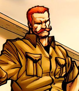 "Timothy Aloysius Cadwallader ""Dum Dum"" Dugan is a fictional character appearing in American comic books published by Marvel Comics. He is an officer of S.H.I.E.L.D. and is one of the most experienced members of Nick Fury's team, known for his marksmanship with rifles and impressive physique. He is recognized for his trademark bowler hat."