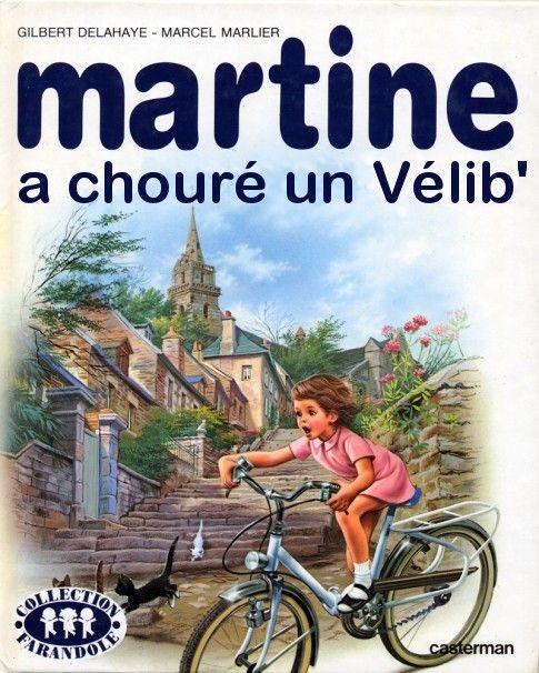 Martine a chouré un Vélib'