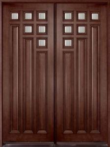 Exterior Wooden Double Doors