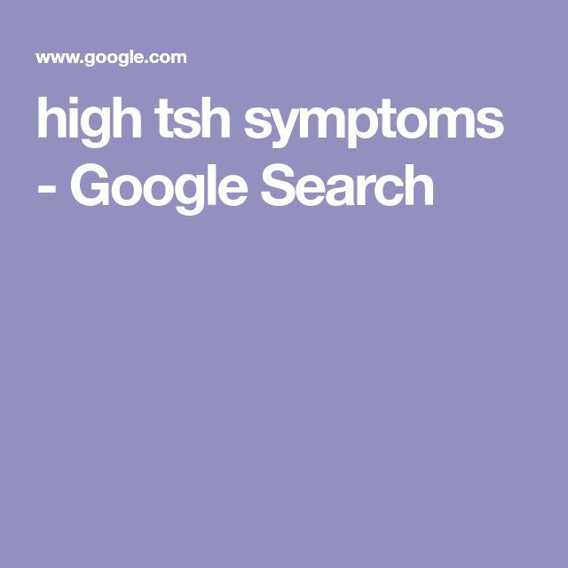 high tsh symptoms - Google Search