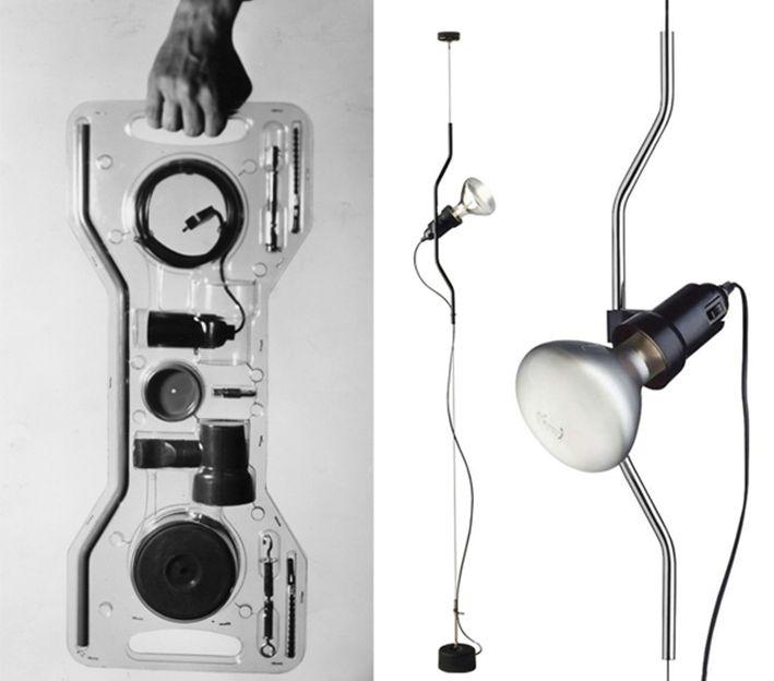 Parentesi Lamp by Achille Castiglioni and Pio Manzù, 1970