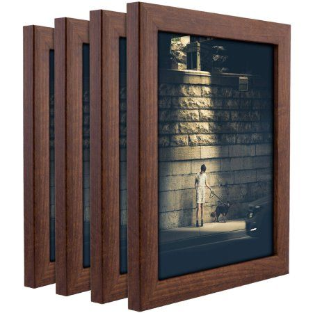 Craig Frames Contemporary Honey Brown Picture Frame, Set of 4
