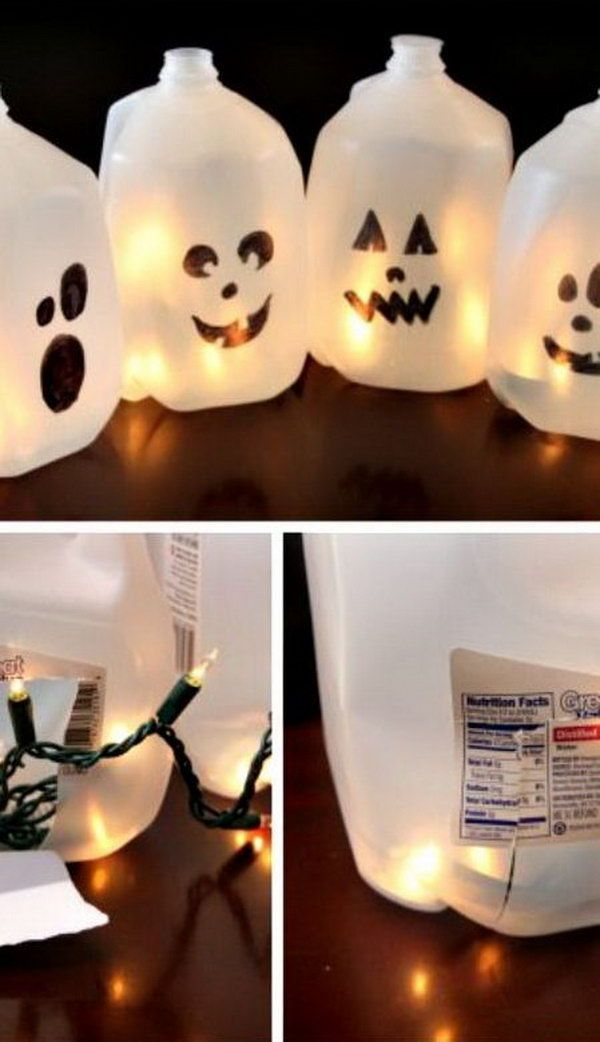 20 cool plastic bottle recycling projects for kids easy halloween craftshalloween funhalloween costumeshalloween milk jugsmilk